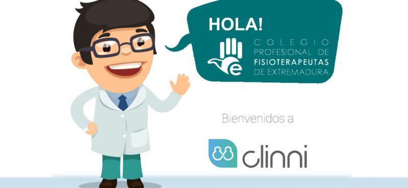 Clinni - Convenio de Colaboración con el Colegio Profesional de Fisioterapeutas de Extremadura